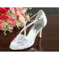 Wholesale China Wedding Shoes / White Ivory Women's Wedding Shoes with Varnished Heel for wedding from china suppliers