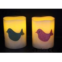 Quality Party decoration Real Wax led Candles with bird pattern ,  Carving led candle for sale