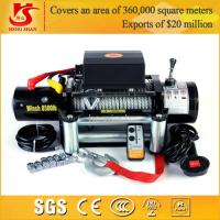 Wholesale 12v 9000lbs winch wireless remote control portable electric winch from china suppliers