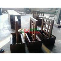 Wholesale Prefab WPC Composite Garden Planters 759 X 438 X 950mm With Wood Garden Trellis from china suppliers