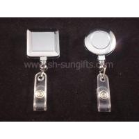 Wholesale Electro-plating badge reel, retractable reel, retractable badge reel, promotional gift from china suppliers