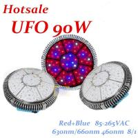 Wholesale 90W greenhouse led grow light hydroponics 48pcs*3W Red=630nm Blue,=460nm,R/B=8/1 from china suppliers