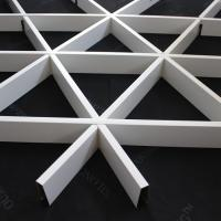 Quality Roller Coating Indoor Aluminum Triangle Grid Metal Ceiling Panel For Shopping Hall for sale