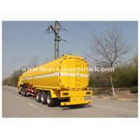 Wholesale Single compartment small fuel tanker semi trailer three axles 36000 liters Yellow color from china suppliers