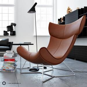 Replia Henrik Pedersen Boconcept Imola Chair Fiberglass / Leather Comfortable