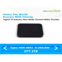 Wholesale 100Mb Ethernet IPTV OTT Set Top Box Quad Core Amlogic H.265 / H.264 decoding from china suppliers