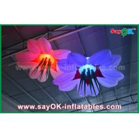 Quality LED Hang Flower Inflatable Lighting Decoration Nylon Cloth For Advertising / Event for sale