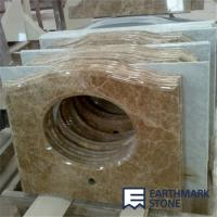 Quality Light Emperador Brown Marble Bathroom Vanity Top for sale