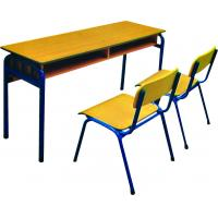 Quality Wooden School Double Desks and Chairs for sale