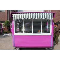 Wholesale Strong Steel Structure Snack Mobile Food Catering With Canopy On Top from china suppliers