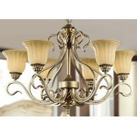 Wholesale Silver / Gold Metal and Glass Vintage Wrought Iron Chandelier With Shades , 6 Light 600W E27 from china suppliers