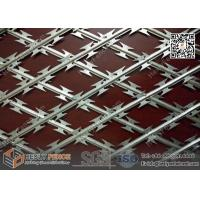 Wholesale 75x150mm rhombus hole Welded Ripper Razor Mesh Fence | 2.1m height X 6.0m width from china suppliers
