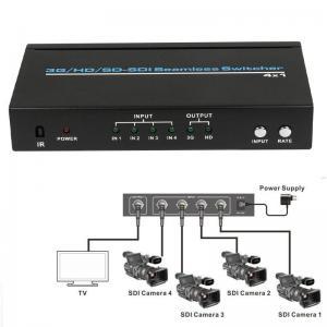 4 Port BNC HD SD 3G SDI Seamless switcher 4x1 Switch 2.97Gb/s 1080P + IR Remote 1080p@60Hz