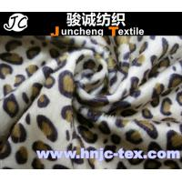 Wholesale 100% polyester printed Tiger stripes design warp knitting velboa fabric polyester fabric from china suppliers