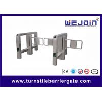 Quality Anti-collision Automatic Turnstile Gates with Stainless Steel Housing and 900mm Arm for sale