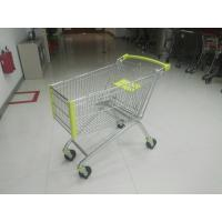 Buy cheap 150 Liter Grocery / Supermarket Shopping Carts With Front Bumpers from wholesalers