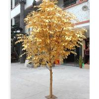Quality outdoor park/resturant landsaping artificial banyan tree(with golde leaves) for sale