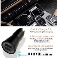 Quality Dual Usb Car Charger 5V 2.4A Style Quick Charger 3.0 For Mobile Products for sale