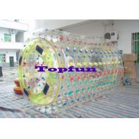 Wholesale Cylindrical PVC / TPU Inflatable Rolling ball Ball With Multicolored D Ring from china suppliers