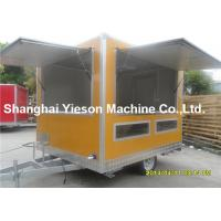 Wholesale Out - Door Refrigerated Concessions Food Truck Trailers Yellow Kitchen Service Cart from china suppliers
