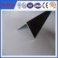 Wholesale 6063 T5 aluminum angle profile / OEM aluminum angles / per ton of aluminum manufacturer from china suppliers
