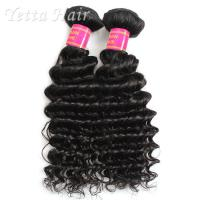 Wholesale Real Deep Wave Indian 6A Virgin Hair  No Mixed Animal Hair or Synthetic Hair from china suppliers