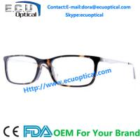 Wholesale Wood style optical eyewear frame top quality acetate with wood temple Eyeglasses Frames from china suppliers