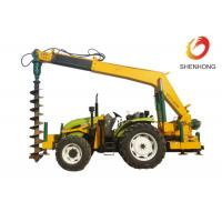 Wholesale Tower Erection Tools 100HP Tractor Mounted Digger Machine With Crane / Auger from china suppliers