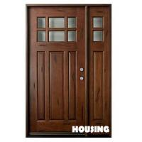Wholesale Double Leaf Timber Sliding Doors With Rubber Seal , Solid Wood Frame from china suppliers