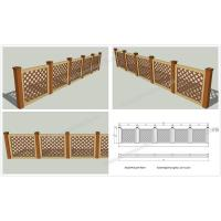 Wholesale WPC garden fencing OLDA-9024 1.1m*1.32m from china suppliers