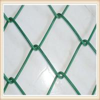 Wholesale 9 Gauge Chain Link Fence Fabric , Carbon Steel Wire Lattice Fence Panels Multi Colors from china suppliers