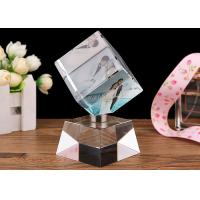 China DIY Crystal Decoration Crafts , Home Decoration Crystal Glass Ornament Crafts on sale