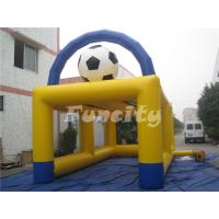 Wholesale 6mL*3mW PVC Tarpaulin Inflatable Sport Games , Inflatable Football Soccer Kick Games from china suppliers