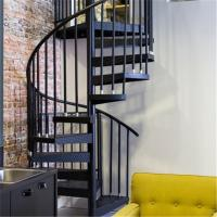Wholesale Indoor carbon steel handrail glass spiral staircase from china suppliers