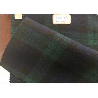 Wholesale Double Sided Green Tartan Fabric60% Wool , Scottish Plaid FabricWith Horizontal And Vertical Line from china suppliers