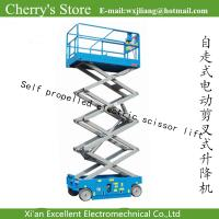 Wholesale Self propelled electric scissor lift/elevator parts stationary scissor lift from china suppliers