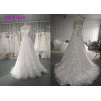 Wholesale Luxury Blush Sequins Lace Bridal Gowns Plus Size With Train Lace Up Back from china suppliers