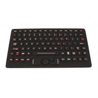 Wholesale IP68 red backlit rubber flat movable keyboard with FSR mouse for police car from china suppliers