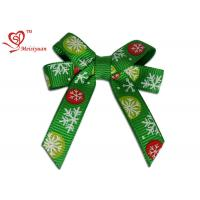 Wholesale Green Grosgrain Ribbon Christmas Ribbon Bows with Printing Snowflake from china suppliers