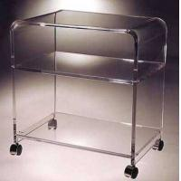 Wholesale clear acrylic serving cart/perspex hotel service trolley/acrylic dining serving cart with wheels from china suppliers
