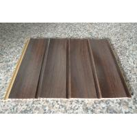 Wholesale Wood Grain Strip Laminated PVC Wall Panel 3D Effect Self - Fire Extinguishing from china suppliers