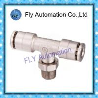 Wholesale Pneumatic Tube Fittings T-Tee nickel-plated brass push-in fittings PB series from china suppliers