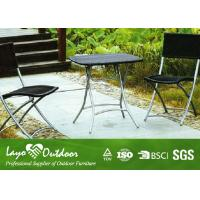 Wholesale Rustic Steel Patio Outdoor Furniture Garden Table And Chairs Set Black / Brown Color from china suppliers