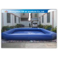 Wholesale Commercial Giant Swimming Pool Inflatables , Dark Blue Large Inflatable Pool Toys 8 * 6m from china suppliers