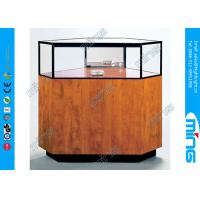 Wholesale Corner Jewelry Display Case with Locking Hinged Door for Shopping Mall from china suppliers