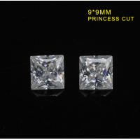 Buy cheap DEF Color Diamond Moissanite Clear White Lab Created Diamonds 9mm Princess Cut from wholesalers