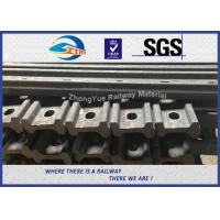 Wholesale 45# 50# 4 / 6 Hole 136 RE Railroad Joint Bars Angle Bars With Hole Spacing from china suppliers