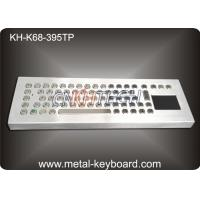 Wholesale Desktop Metal IP65 Rate waterproof keyboard with touchpad 395x135 mm Front panel from china suppliers