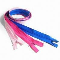 Buy cheap #3 Nylon Zippers, Customized specificaitons and Puller Designs/Logos are Welcome from wholesalers