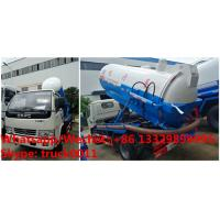 Wholesale high quality and best price dongfeng 3cbm vacuum sewer cleaner truck for sale, good price 3,000Liters vacuum truck from china suppliers